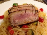 Ahi Tuna with Angel Hair Pasta