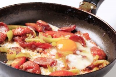 Andouille and Eggs Stir Fry