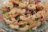 Grilled Spicy Shrimp Salad on the BGE