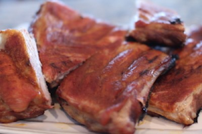 BGE Sweet and Spicy Ribs
