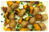 Chicken Sausage and Sweet Potato Squares