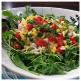 Crab, Corn, Tomato and Arugula Salad