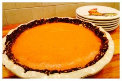 Date Crusted Pumpkin Pie