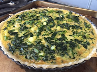 Green Vegetable Quiche with Emeril's Flaky Crust