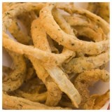 Herb baked onion rings