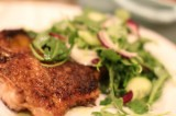 Chicken Milanese Topped with Arugula Salad