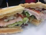 Waffle Turkey Club Sandwich