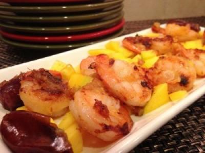 Medjool Date Honey Glazed Shrimp