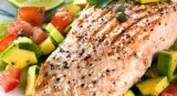 Poached Salmon with Avocado Salad