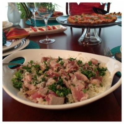 Rice Salad with Tuna, Capers and Herbs