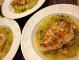 Sauté Sea Bass with Pasta, Artichokes, Lemon and Herbs