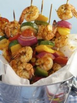 Lemon-Garlic Shrimp Shisk-Kabobs