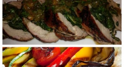 Swiss Chard and Herbs Stuffed Pork Loin
