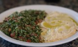 Tabbouleh and Hummus Platter