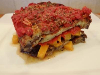 Vegetable Loaded Eggplant Lasagna