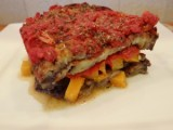 Vegetable Loaded Eggplant Lasagna
