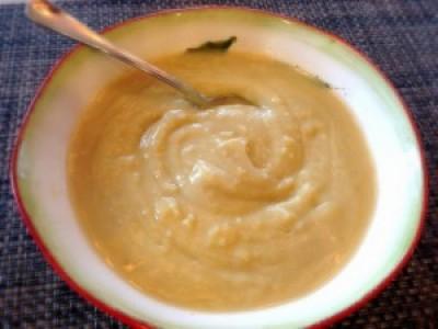 White Sweet Potato and Leek Soup