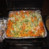 Zucchini Noodles and Butternut Squash in a Garlic-Lemon Sauce