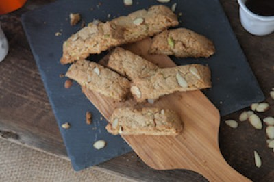 Pistachio and Almond Biscotti