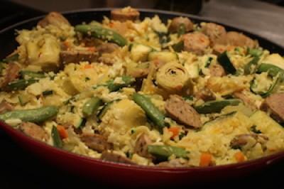 Artichoke and Chicken Sausage