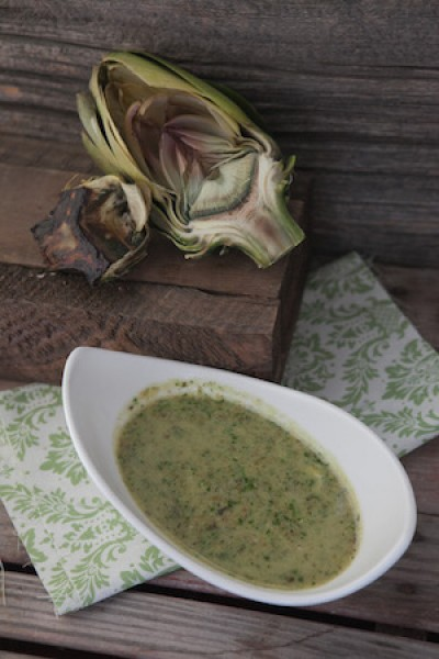 Artichokes in a lemon and herb sauce