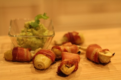 Bacon Wrapped Artichokes