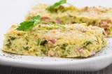 Baked Ham and Broccoli Omelet