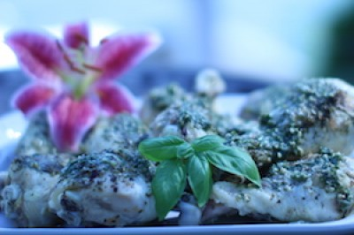 Basil Pesto Chicken Drumsticks