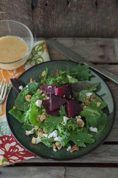 Roasted Beet Salad with Dijon Shallot