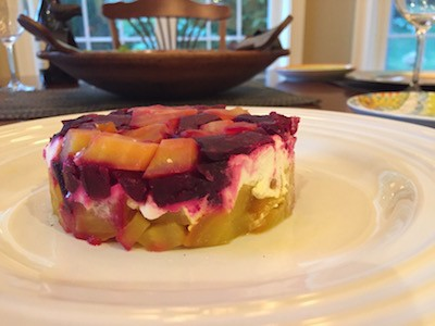 Chopped Beet and Goat Cheese Salad
