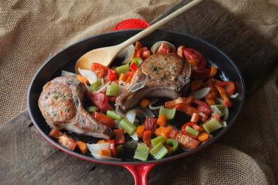 Braised Tuscan Pork Chops