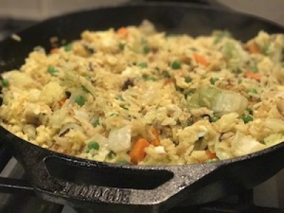 Cabbage and Cauliflower Fried Rice