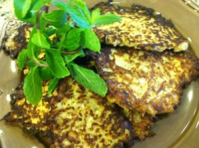 Cauliflower and Scallion Pancakes