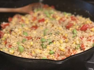 Cauliflower Rice Succotash