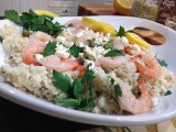 Lemon  Shrimp with Feta and