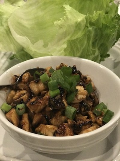 Chinese Chicken and Lettuce Wraps