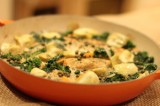Baked Chicken with Kale and Artichokes