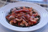 Chicken Cacciatore and Black Bean Pasta