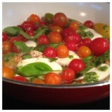 Caprese Chicken with a Basil Dressing