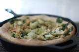 Paleo Cast Iron Pizza with Chicken, Artichoke and Spinach Pizza