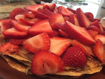 Crepes and Paleo Nutella Cake