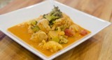 Paleo Chicken Curry with Broccoli and Cauliflower