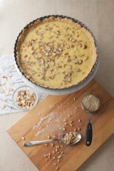 Custard Pie with Pine Nuts and Almonds