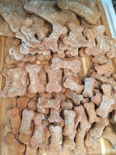 Peanut Butter Dog Bone Treats