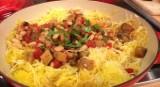 Eggplant and Bean Pomodoro with Spaghetti Squash