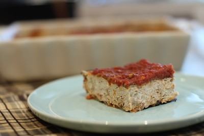 Eggplant and Turkey Meatloaf Parmesan