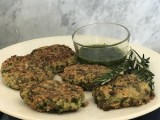 Lentil and Quinoa Cakes with Herb Dressing