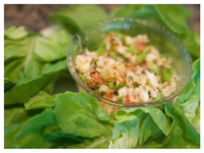 Lobster Lettuce Wraps