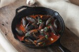 Mussels with Herbs and a Red Sauce