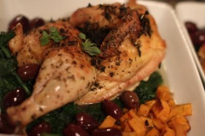Oregano Roasted Split Chicken Dinner